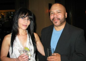 With my lovely and talented colleague Ilana Mercer in Miami, 2010. No, I'm not stoned; I'd been traveling all day.