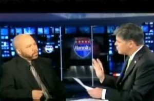 On the set with Sean Hannity, NYC, June 2010.