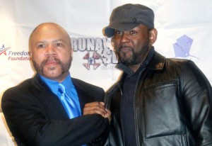 "With the amazing Zo Rachel at the D.C. premier of ""Runaway Slave,"" April 2012."